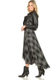 Silvian Heach |  Printed midi skirt Chopper | black  | Picture 5