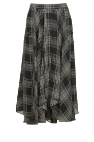 Silvian Heach |  Printed midi skirt Chopper | black  | Picture 1