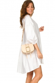 ba&sh |  Leather shoulder bag Small Teddy | natural  | Picture 2