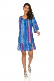 Alice & Trixie |  Printed dress with ruffle details Skye | blue  | Picture 3
