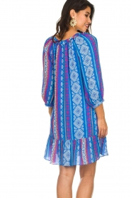 Alice & Trixie |  Printed dress with ruffle details Skye | blue  | Picture 4
