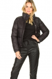 Silvian Heach :  Short down coat Calcutta | black - img2