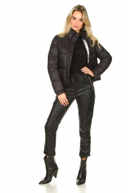 Silvian Heach :  Short down coat Calcutta | black - img3