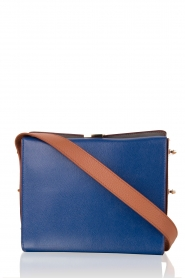 Leather shoulder bag Electra M | blue