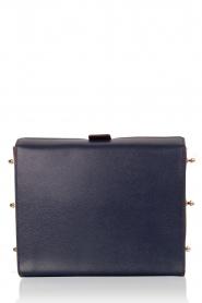 Furla | Leren schoudertas Electra M | blauw   | Afbeelding 4