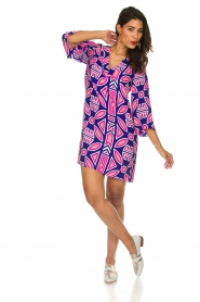Alice & Trixie |  Silk printed dress Ruth | multi  | Picture 3