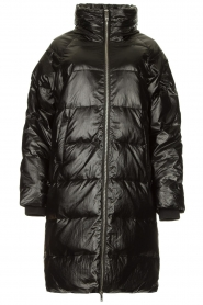 Silvian Heach |  Long down jacket Bull | black  | Picture 1