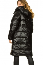 Silvian Heach |  Long down jacket Bull | black  | Picture 6