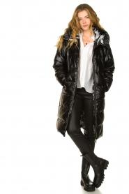 Silvian Heach |  Long down jacket Bull | black  | Picture 3