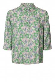 Lolly's Laundry |  Blouse with print Bono | green  | Picture 1