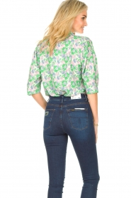 Lolly's Laundry |  Blouse with print Bono | green  | Picture 7