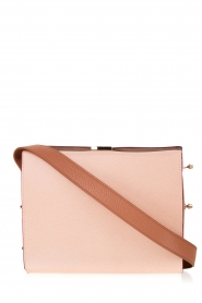 Leather shoulder bag Electra M | old pink