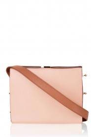 Furla | Leren schoudertas Electra M | oud roze   | Afbeelding 1