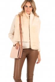 Furla | Leren schoudertas Electra M | oud roze   | Afbeelding 2
