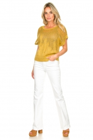 Rabens Saloner | Knitted sweater Almina | yellow  | Picture 3