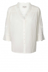 Lolly's Laundry |  Broderie blouse Charlie | white  | Picture 1