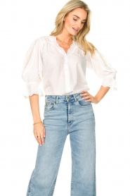 Lolly's Laundry    Broderie blouse Charlie   white    Picture 5
