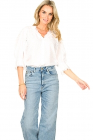 Lolly's Laundry    Broderie blouse Charlie   white    Picture 4