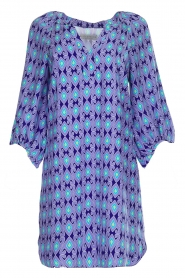 Alice & Trixie |  Silk dress with print Vaya | blue  | Picture 1