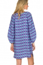 Alice & Trixie |  Silk dress with print Vaya | blue  | Picture 5