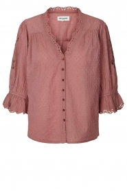 Lolly's Laundry |  Broderie blouse Charlie | old pink  | Picture 1