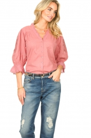 Lolly's Laundry |  Broderie blouse Charlie | old pink  | Picture 4