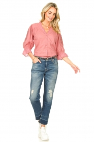 Lolly's Laundry |  Broderie blouse Charlie | old pink  | Picture 3