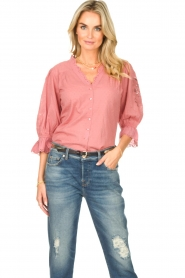 Lolly's Laundry |  Broderie blouse Charlie | old pink  | Picture 2