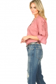 Lolly's Laundry |  Broderie blouse Charlie | old pink  | Picture 5