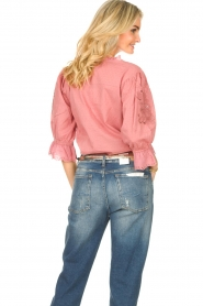 Lolly's Laundry |  Broderie blouse Charlie | old pink  | Picture 6
