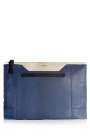 Furla | Leren clutch Pochette Fantasia XL | blauw en wit    | Afbeelding 1