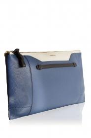 Furla | Leren clutch Pochette Fantasia XL | blauw en wit    | Afbeelding 3
