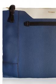 Furla | Leren clutch Pochette Fantasia XL | blauw en wit    | Afbeelding 5