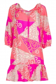 Alice & Trixie |  Silk printed dress Phille | pink  | Picture 1