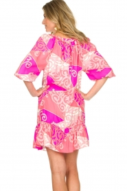 Alice & Trixie |  Silk printed dress Phille | pink  | Picture 6