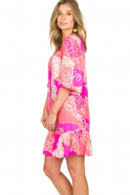 Alice & Trixie |  Silk printed dress Phille | pink  | Picture 5