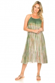 Rabens Saloner |  Tie-dye dress Gunva | green  | Picture 3