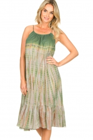 Rabens Saloner |  Tie-dye dress Gunva | green  | Picture 4