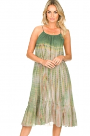 Rabens Saloner |  Tie-dye dress Gunva | green  | Picture 2
