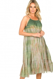 Rabens Saloner |  Tie-dye dress Gunva | green  | Picture 5
