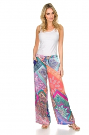 Alice & Trixie |  Silk wide leg trousers with print Uzie | multi  | Picture 3
