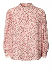 Lolly's Laundry |  Blouse with floral print Frankie | pink  | Picture 1