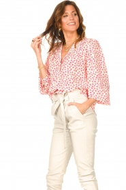 Lolly's Laundry    Blouse with floral print Frankie   pink    Picture 4