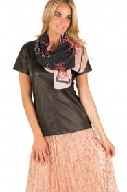 Essentiel Antwerp | Zijden sjaal Object | roze  | Afbeelding 2