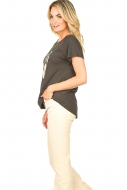 Rabens Saloner    T-shirt with print Filina Palm   black    Picture 6