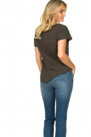 Rabens Saloner |  T-shirt with print Filina Palm | black  | Picture 6