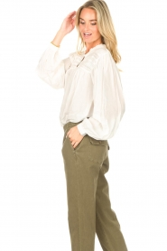 Lolly's Laundry |  Blouse with details Cara |  natural  | Picture 6