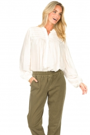 Lolly's Laundry |  Blouse with details Cara |  natural  | Picture 4