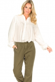 Lolly's Laundry |  Blouse with details Cara |  natural  | Picture 5