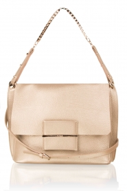 Leather shoulder bag Minerva S | gold